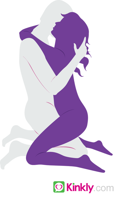 diagram of the kneel sex position