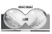Topco Sales Doki Doki Breast Massager - Silver - A pair of vibrating massagers to fit in your bra