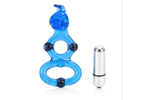 California Exotic Magnetic Power Ring Double Helix Bunny Ring - Erection enhancement ring.