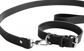 Liberator Fillie Leather Collar and Lead - A sturdy albeit exquisitely comfortable leather collar with a detachable lead.