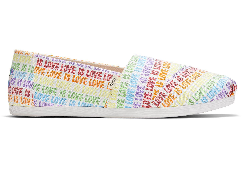 TOMS Alpargata slip-on shoe with rainbow Love Is Love