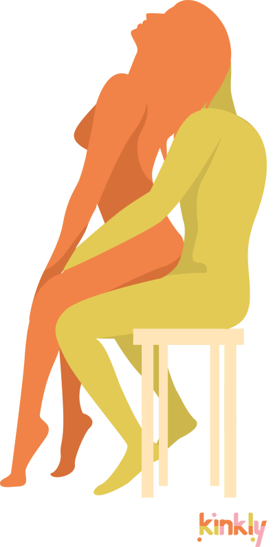The Perch Position. The penetrating partner sits on a chair or other flat surface. The receiving partner backs up onto the penetrating partner's penis. The receiving partner then leans back into their partner's chest.