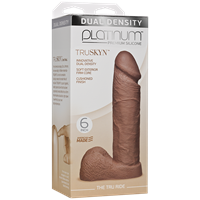 "Doc Johnson Platinum The Tru Ride 6 inch - Caramel - This 6"" realistic dildo has a firm silicone core."