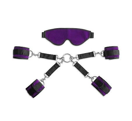 Liberator Bond Cuff and Blindfold Kit - A sexy set of wrist and ankle cuffs with blindfold.