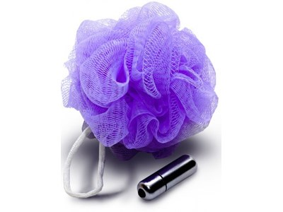 Sportsheets Sex in the Shower Vibrating Mesh Sponge - This shower sponge conceals a powerful bullet vibrator.