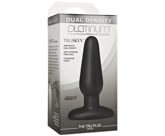 Doc Johnson Platinum The Tru Plug Taper - A tapered butt plug for easy entry, made to feel like real skin.