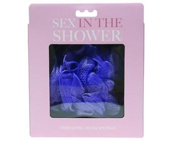 Sportsheets Sex in the Shower Vibrating Mesh Sponge - This shower sponge conceals a powerful bullet vibrator.