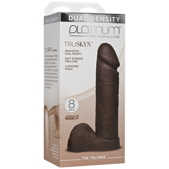 Doc Johnson Platinum The Tru Ride 8 inch - Chocolate -