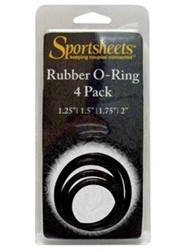 Sportsheets Rubber O Ring - Rubber O rings for use with Sportsheets' strap-ons or can be used as a cock ring.
