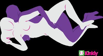 lesbian spooning sex position