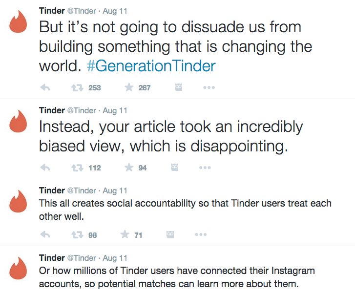 building something that is changing the world #GenerationTinder
