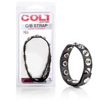 California Exotic COLT  8 Snap Fastener Leather Strap - Adjustable erection enhancement ring.