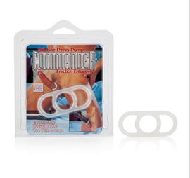 California Exotic Penis Pump Commander Erection Enhancer - Enhancer ring with handles.