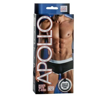 California Exotic Apollo Boxer with C-Ring - L/XL - Mens sensual attire.