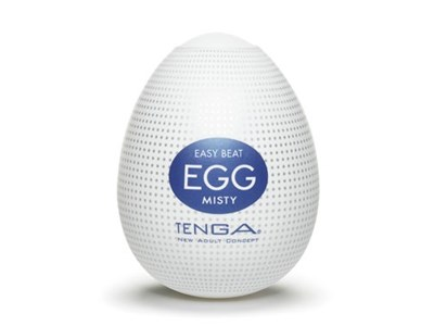 TENGA EGG MISTY - A soft, pliable male pleasure sleeve that is uniquely packaged in an egg.