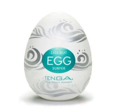 TENGA EGG SURFER - A soft, pliable male pleasure sleeve that is uniquely packaged in an egg.
