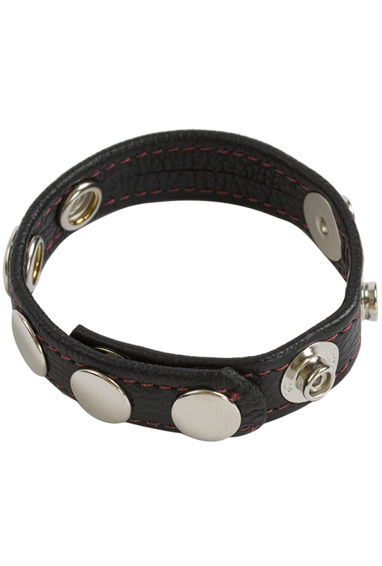 Doc Johnson COCK & BALL STRAPS - LEATHER - 3-SNAP/5-SPEED -   A fully adjustable cock strap with various configurations