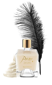 Bijoux Indiscrets Poeme Body Paint - Frozen yogurt flavor body painting and plume.