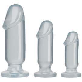 Doc Johnson Crystal Jellies - Anal Starter Kit - A series of deeply pleasurable anal plugs for beginners
