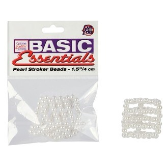 California Exotic Basic Essentials Pearl Stroker Beads Small - Enhancement beads.
