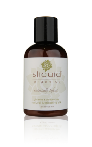 Sliquid Organics Silk - A water & silicone based organic lube with natural ingredients for creamy texture without irritation.