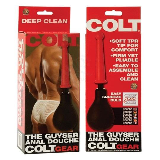California Exotics Colt The Guyser Anal Douche - A body-safe anal douche with a flexible tip