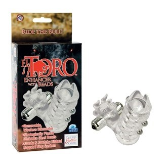 California Exotic El Toro Enhancer with Beads - Erection enhancement ring.