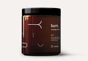 Maude Burn Massage Candle No.1 - A skin-softening massage candle made to infuse the room with a subtle, sensual scent.