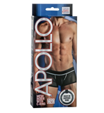 California Exotic Apollo Mesh Boxer with C-Ring - L/XL - Men's mesh boxer with built-in erection enhancement ring.