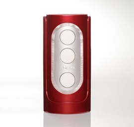 Tenga Flip Hole Red - A reusable masturbation sleeve with delicate internal details.