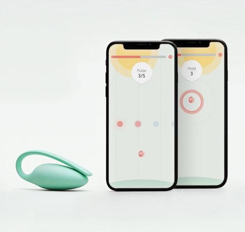 elvie kegel trainer phone display and toy