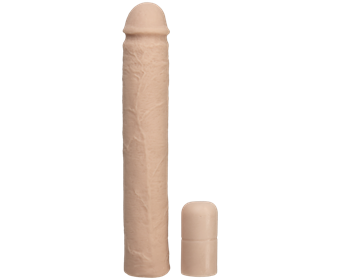 Doc Johnson Xtend It Kit - White - A white dildo with extensions for a personalized experience.