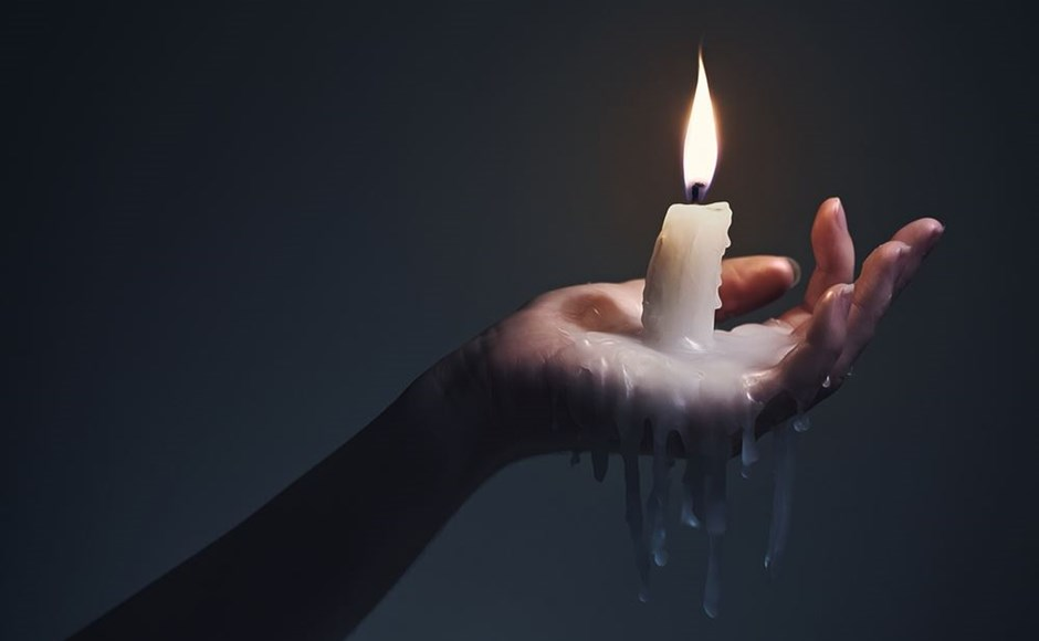 Hot wax play candle