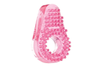 California Exotic Super Stretch Stimulator Sleeve - Nubby Pink - Erection enhancement rings with added ticklers.