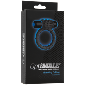 Doc Johnson OPTIMALE Vibrating C-Ring - This vibrating c-ring has a textured yet soft feel for optimal pelasure.