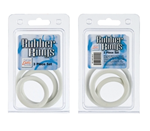 California Exotic Rubber Ring White 3 Piece Set - Set of erection enhancement rings.