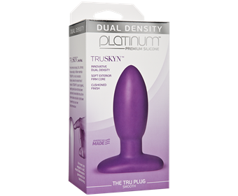 Doc Johnson Platinum The Tru Plug Smooth - A smooth butt plug made to feel like real skin.