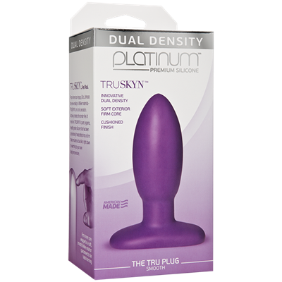 Doc Johnson Platinum The Tru Plug Smooth - Purple - A smooth butt plug made to feel like real skin.