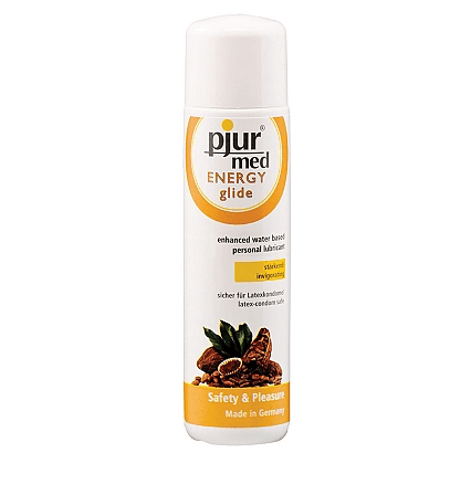 Pjur Med Energy Glide Lube - A water-based lubricant designed to energize and warm.