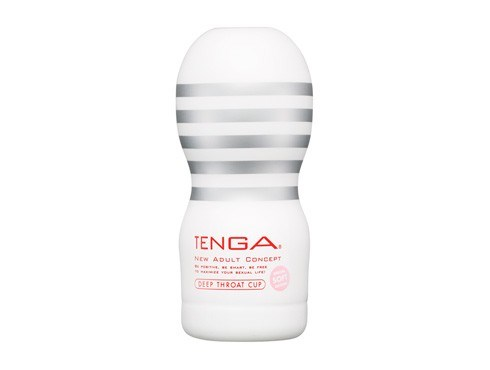 TENGA DEEP THROAT CUP (SOFT) - A male masturbator that provides a deep, smooth, throat-like experience.
