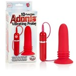 California Exotic 10-Function Adonis Vibrating Probe - Powerful Silicone probe with sturdy suction cup base.