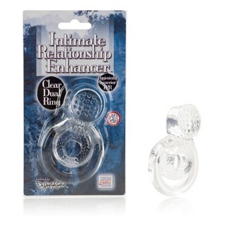 California Exotic Dr. Joel Kaplan Intimate Relationship Enhancer Dual Ring - Couples erection enhancer.