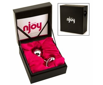 nJoy Pure Plug - A weighty stainless steel anal plug that provides a lovely sense of fullness.
