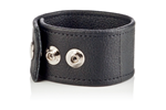 California Exotic COLT Double Wide Leather Strap - Adjustable erection enhancement ring.
