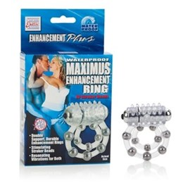 California Exotic Waterproof Maximus Enhancement Ring - 10 Stroker Beads - Erection enhancement ring.