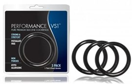 Blush Novelties Performance Rings Vs1 - A set of stretchy cock rings to intensify your orgasms.