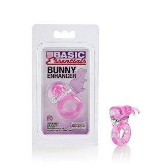 California Exotic Basic Essentials Bunny Enhancer - Erection enhancement ring with Rabbit-style enhancer.