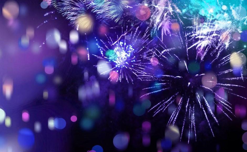 New Year resolution fireworks