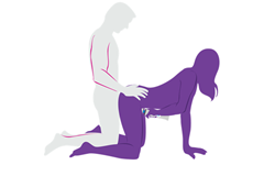 doggy style sex position with a vibrator