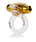 California Exotic Extreme Pure Gold Double Trouble Couples Enhancer - Vibrating erection enhancement ring.